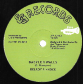 Delroy Pinnock - Babylon Walls (SG Records / Jah Fingers) 12""